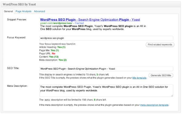 El mejor plugin SEO para wordpress WordPress SEO by Yoast