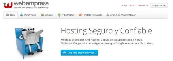El mejor hosting español Webempresa