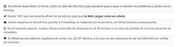 El mejor hosting calidad precio Español